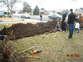 Fixing the water pipe 003