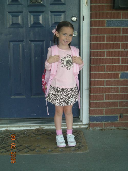 First day of school kindergarten