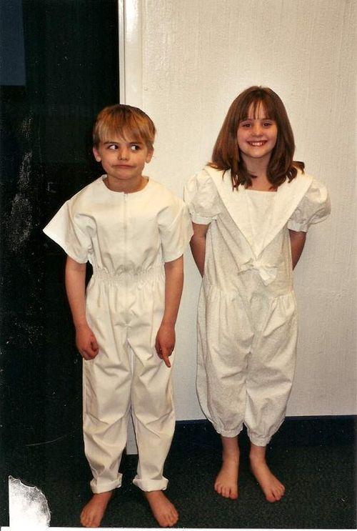 Meg and Hank, baptism day