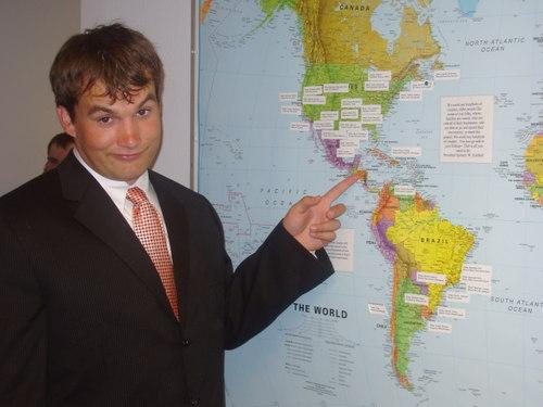 Rob at the map